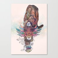 Canvas Prints featuring Journeying Spirit (Mountain Lion) by Mat Miller