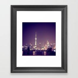 Shanghai Night Framed Art Print