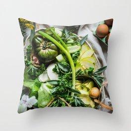 Green Goddess Throw Pillow