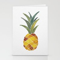 pineapples Stationery Cards featuring Pineapples by Cat Coquillette