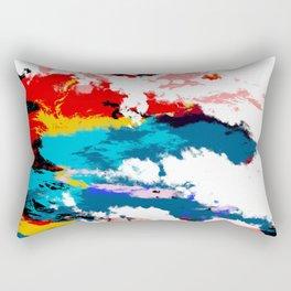 Abstract Colorful Retro Art Tie-Dye Pattern - Hissu Rectangular Pillow