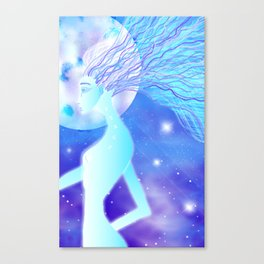 Blue Star Being Canvas Print