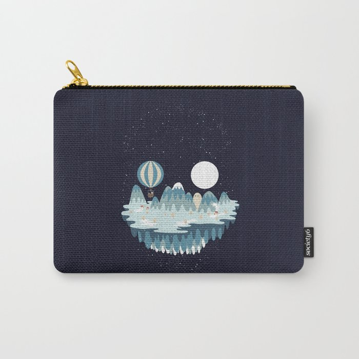 Winter skull Carry-All Pouch