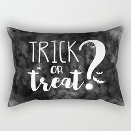 Trick Or Treat?   Black And White Rectangular Pillow