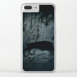 Vintage Color Photo * 1950's * Lion of Lucerne * Switzerland * Kodachrome * Clear iPhone Case