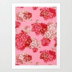 hydrangea (doubled) Art Print