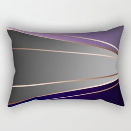 Purple, gray, black, dark blue. Rectangular Pillow