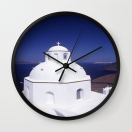 Church - Santorini Wall Clock