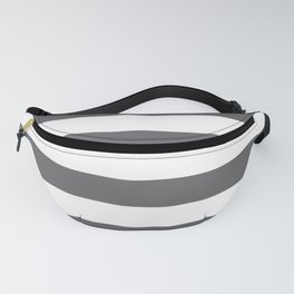 Simply Striped in Storm Gray and White Fanny Pack