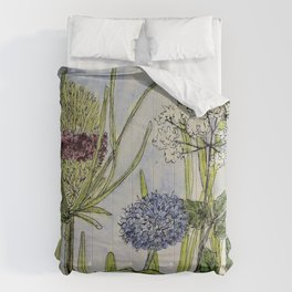 Herbs Wildflowers Garden Flowers Comforters