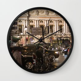 Opera Garnier night Wall Clock