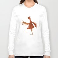 chicken Long Sleeve T-shirts featuring Chicken by Jade Young Illustrations