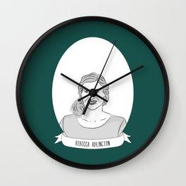 Rebecca Adlington Illustrated Portrait Wall Clock