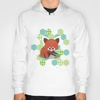 red panda Hoodies featuring Red Panda by Steph Dillon