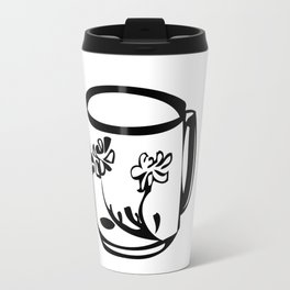 Flower teacup Travel Mug