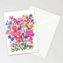 Little Pink Poppies Stationery Cards