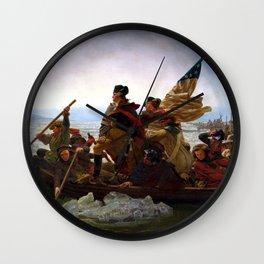 Washington Crossing The Delaware River Wall Clock