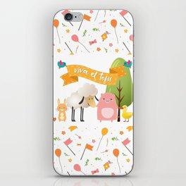 Viva el tofu iPhone Skin