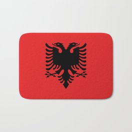 National flag of Albania - Authentic version Bath Mat