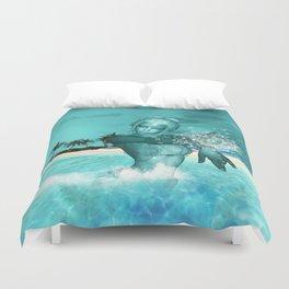 In the ocean in the night Duvet Cover