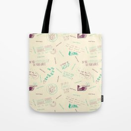 Doodlethrob (Tegan and Sara) creme Tote Bag