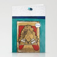 pain Stationery Cards featuring Pain by Thiffany