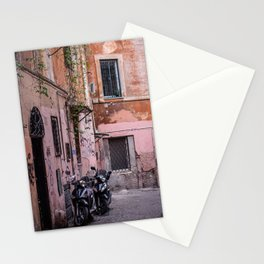 Motorbikes on the Streets of Rome, Italy Stationery Cards