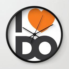 I <3 D.O. Logo Wall Clock