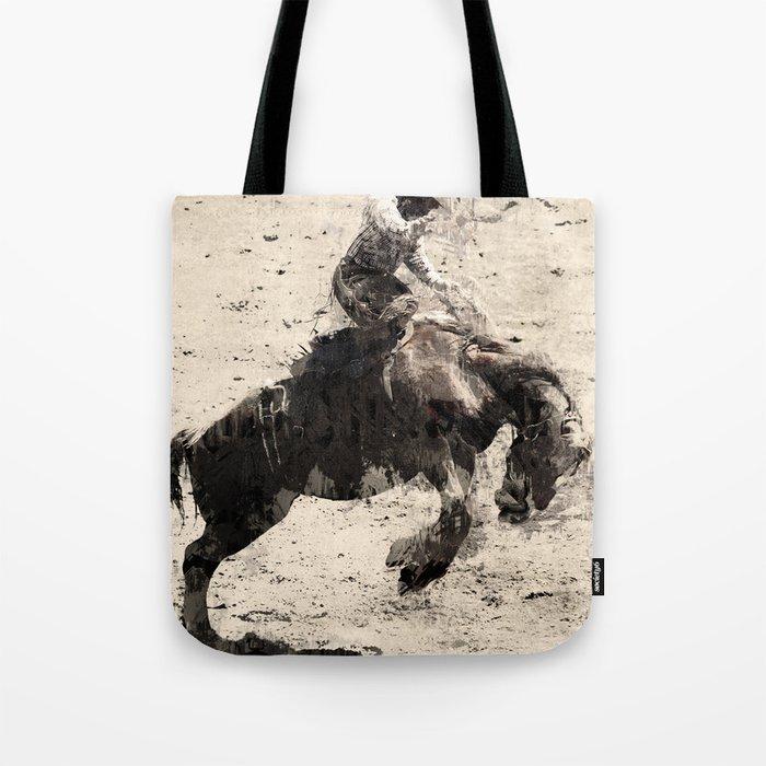 Hanging On - Bronco Busting Champ Tote Bag