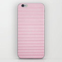 Vintage chic pink geometrical stripes pattern iPhone Skin
