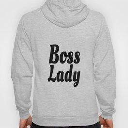 Boss Lady in Cursive Black Hoody