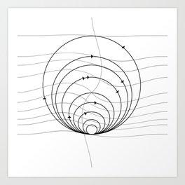 CIRCULAR_DIRECTIONS Art Print