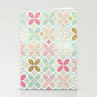 moroccan Stationery Cards featuring MOROCCAN TILE by Monika Strigel®