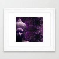 meditation Framed Art Prints featuring Meditation by JG-DESIGN