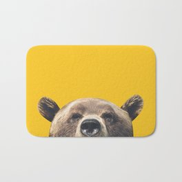 Bear - Yellow Bath Mat