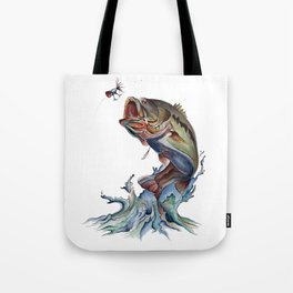 Bass Fish Tote Bag