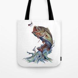Bass Fish Tote Bag