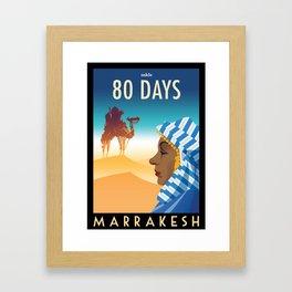 80 Days : Marrakesh Framed Art Print