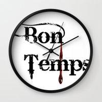 true blood Wall Clocks featuring true blood by macnicolae