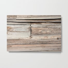 Old Wood Wall Metal Print