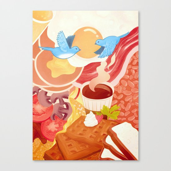 Ode to Breakfast Canvas Print