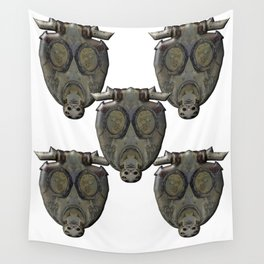 Gas Mask Wall Tapestry