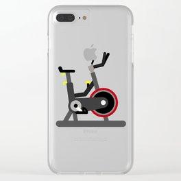 Spin Bike Clear iPhone Case