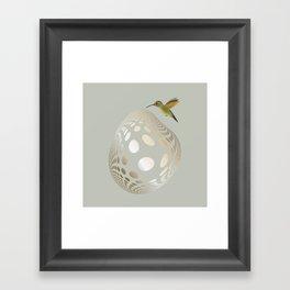 Hummingbird and Bubble Framed Art Print
