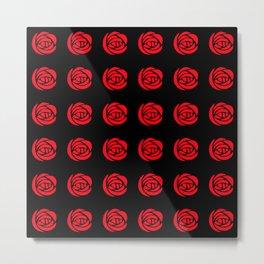 "Charles Rennie Mackintosh ""Roses"" (16) Metal Print"