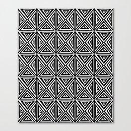 Symetric triangle 5 -vichy, gingham,strip,triangle,geometric, sober,tartan,mandala Canvas Print