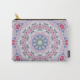 Country Lace Style Kaleidoscope Pattern Carry-All Pouch