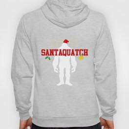 Santaquatch Bigfoot Silhouette Christmas Holiday T-Shirt Hoody