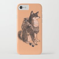 doge iPhone & iPod Cases featuring Shibe doge with mushrooms by Yulia Hochulia