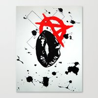 anarchy Canvas Prints featuring Anarchy by Mike Lampkin